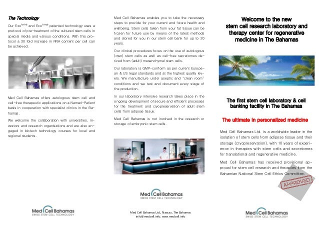 Welcome to the new stem cell research laboratory and therapy center for regenerative medicine in The Bahamas Med Cell Baha...