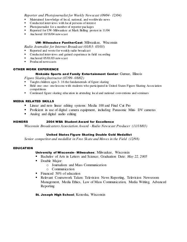 News Producer Resume. web producer resume template game programmer ...