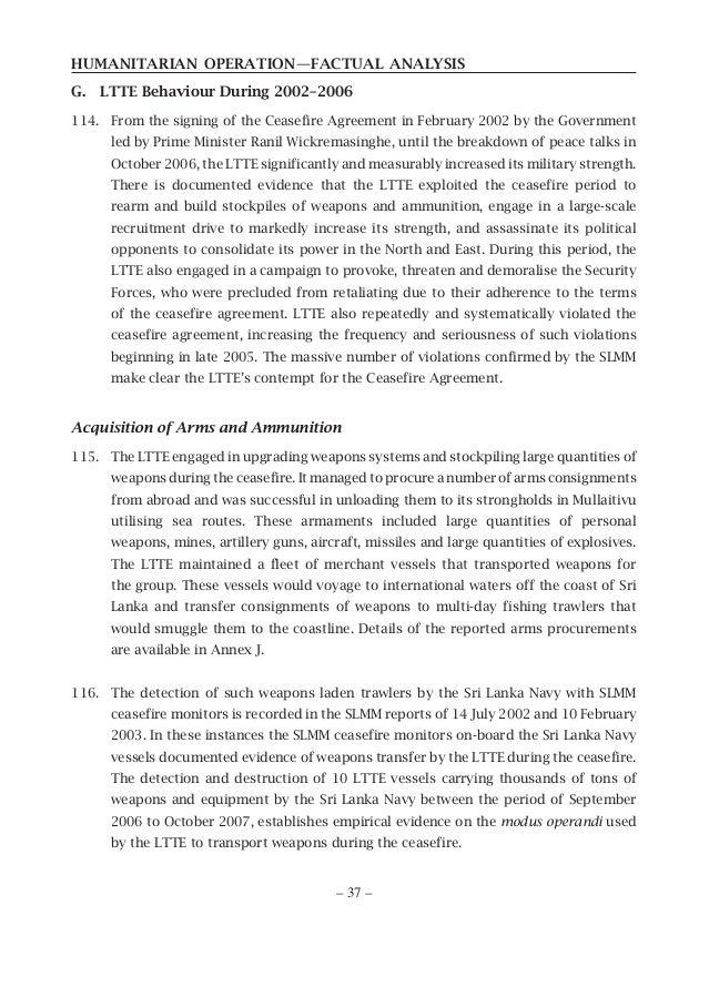 Humanitarian Operation Of Sri Lanka Factual Analysis
