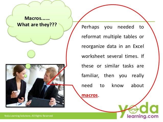 Understanding Excel VBA Macros : What are VBA Macros in
