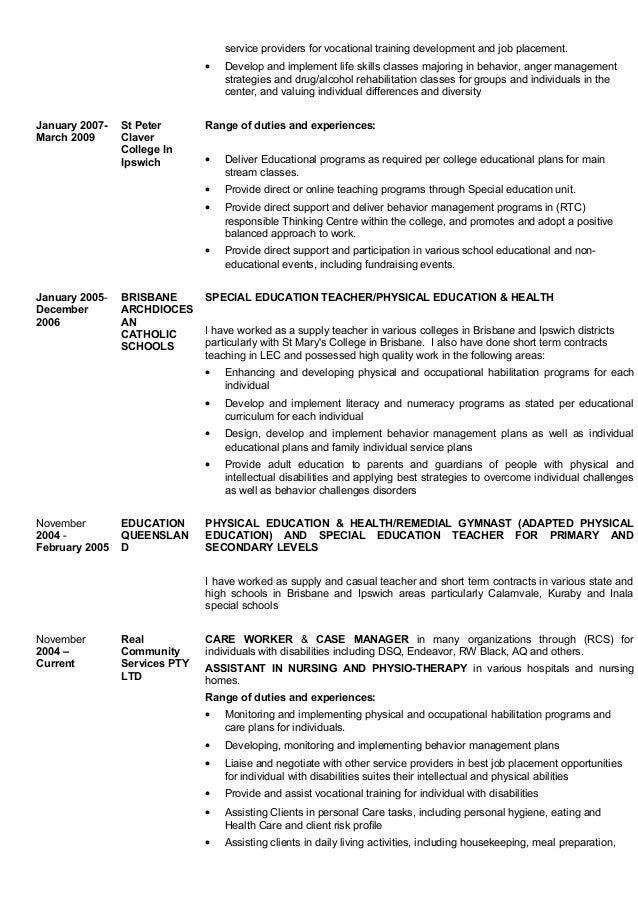 Attractive Behaviour Management Resume Model - Administrative ...