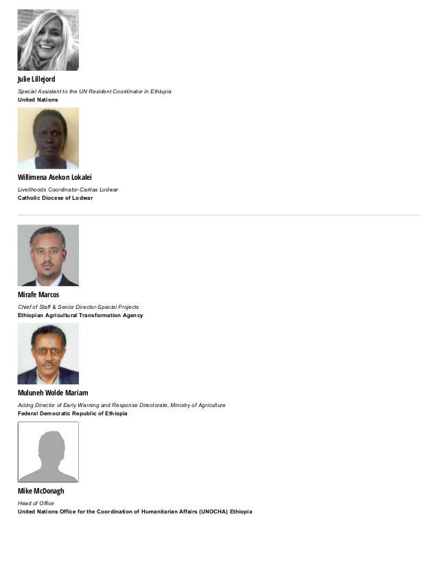 Julie Lillejord SpecialAssistanttotheUNResidentCoordinatorinEthiopia UnitedNations Willimena Asekon Lokalei Livel...