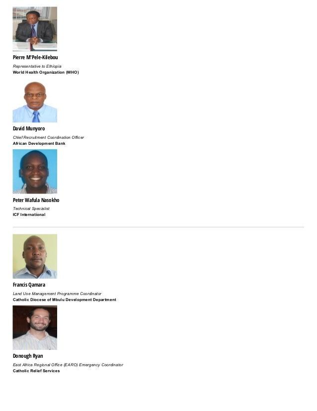 Pierre M'Pele-Kilebou RepresentativetoEthiopia WorldHealthOrganization(WHO) David Munyoro ChiefRecruitmentCoordinat...