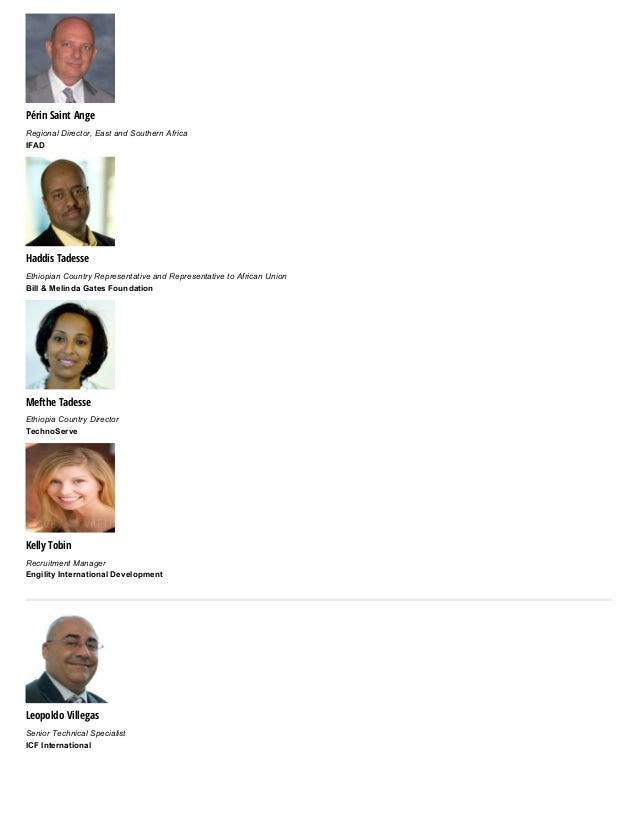 Périn Saint Ange RegionalDirector,EastandSouthernAfrica IFAD Haddis Tadesse EthiopianCountryRepresentativeandRepr...