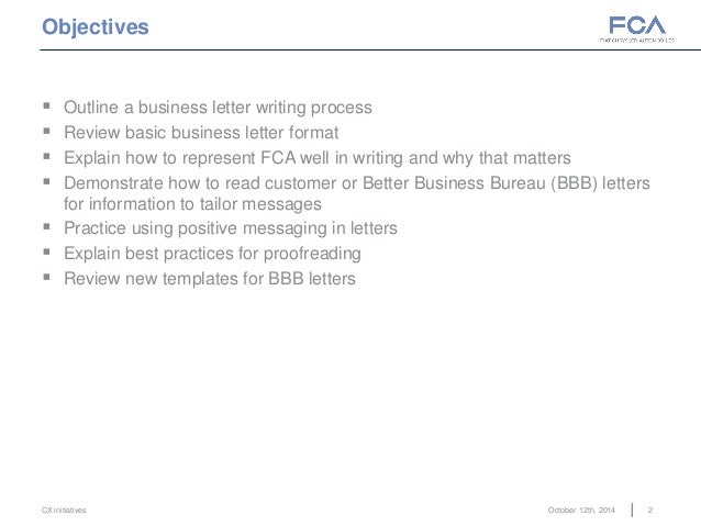 business letter outline