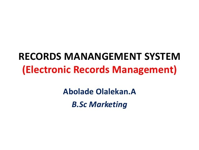 computerized record management system Sample program for car/ auto  the computerized system has many gain & features which manual system  features of the system: 1 book records management 2.