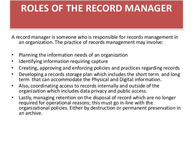 electronic records management system pdf