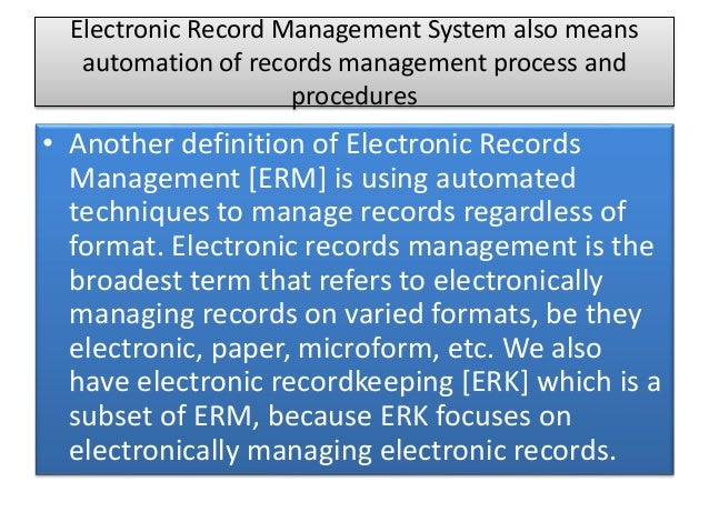 records management essay The importance of record management print  this is not an example of the work written by our professional essay  why is records management important and who.