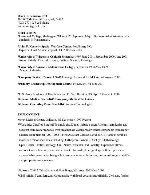 Surgical Technologist Student Resume - Http://Jobresumesample Com
