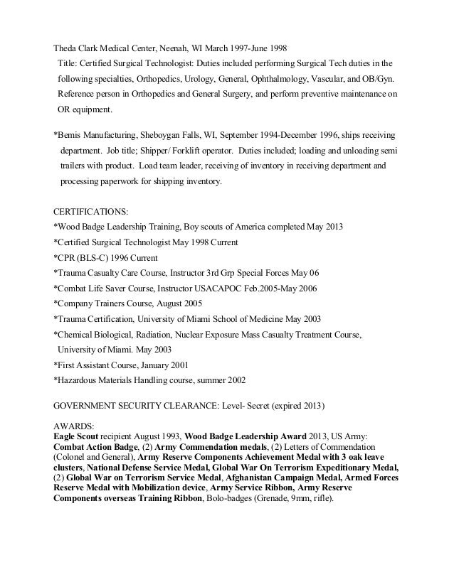 resume examples emergency room technician resume sample