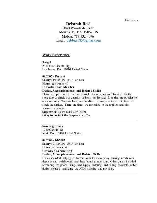 debbie resume new 010916