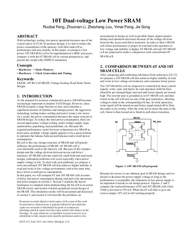 low power sram thesis Low power robust current mode sensing for 5t-portless sram, fr/  there is  then a need for true always-on but very low power sram be.