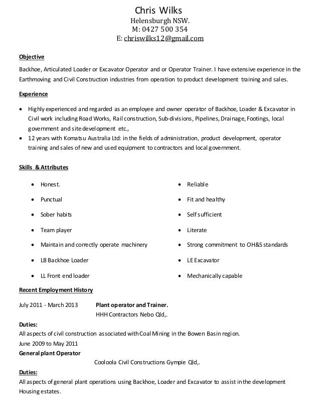 plant operator resume - Selo.l-ink.co