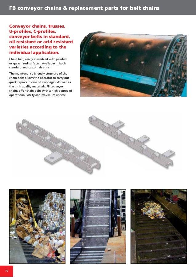 10 FB conveyor chains & replacement parts for belt chains Conveyor chains, trusses, U-profiles, C-profiles, conveyor belts...