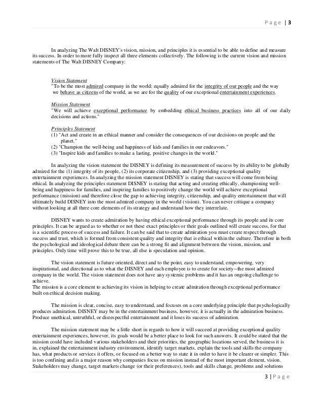 walt disney world mission statement