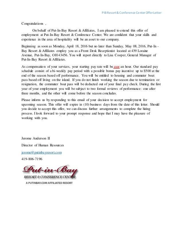 PIB Offer Letter