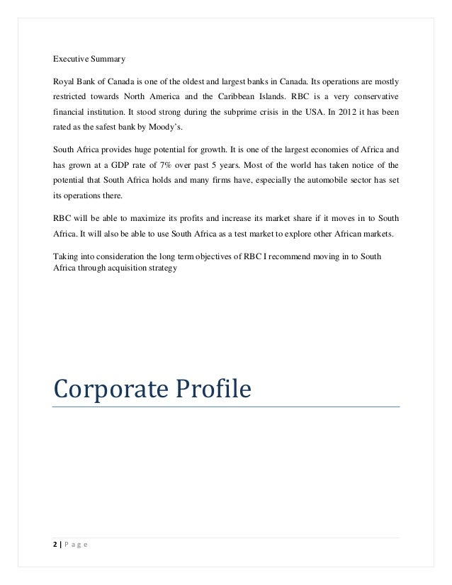 royal bank of canada executive summary The royal bank of scotland group pension fund  annual report for  one canada square : london e14 5al  the royal bank of scotland  by rbs investment executive.