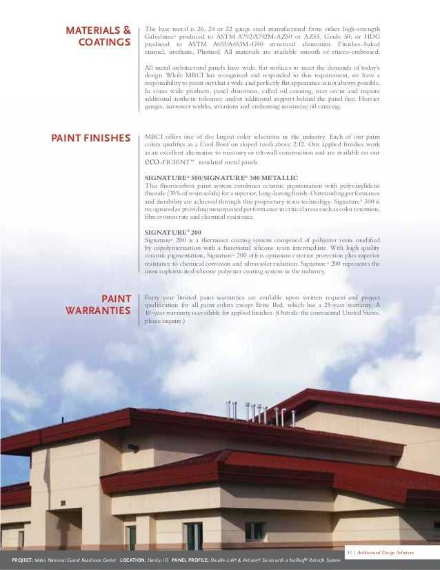 Mbci Architectural Brochure