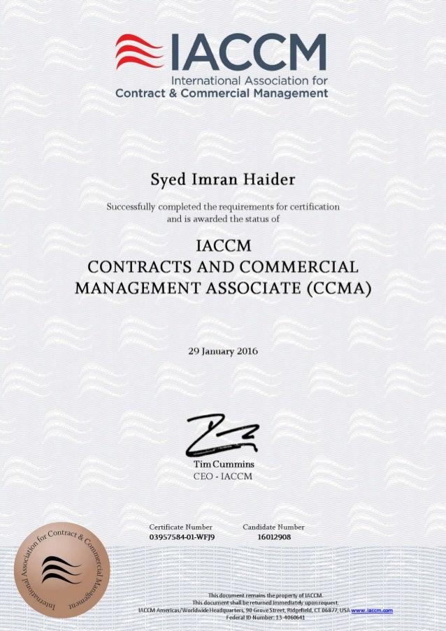 CCMA certificate