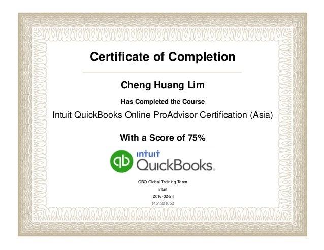 Intuit QuickBooks Online ProAdvisor Certification (Asia)