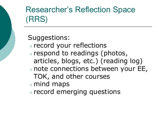 how to write a ee reflection