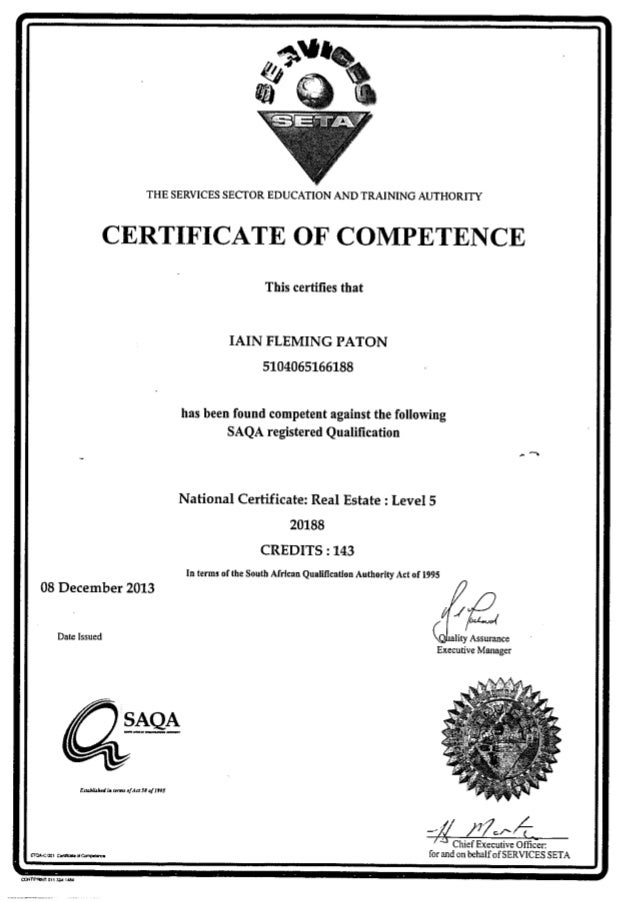 National Certificate In Real Estate 2 Nqf 5