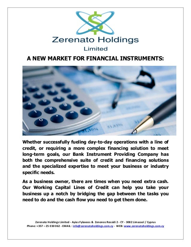 Zerenato Holdings Limited - Ayias Fylaxeos & Zenonos Rossidi 2 - CY - 3082 Limassol / Cyprus Phone: +357 – 25 030 062 - EM...