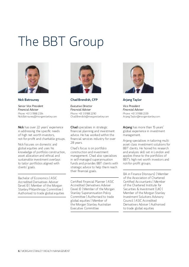 The BBT Group at Morgan Stanley