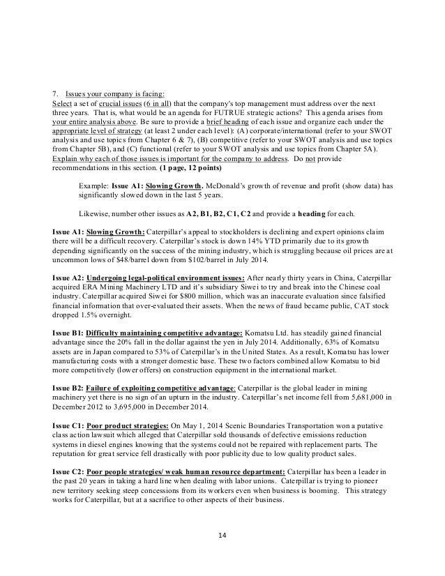 Caterpillar Inc  Strategic Analysis