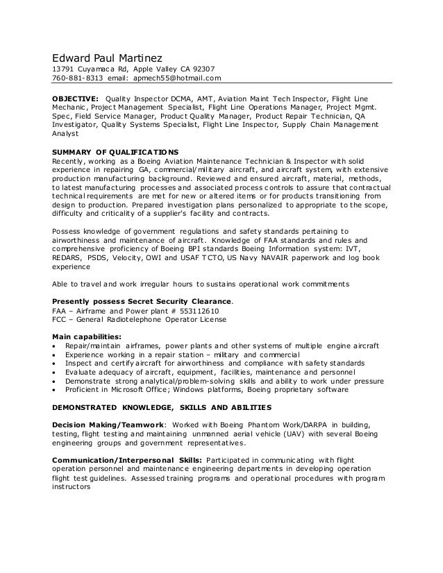 edward paul martinez dcma resume