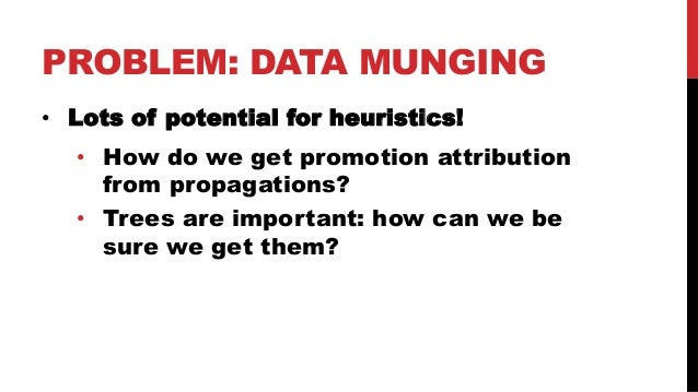 """DEFINE DATA STRUCTURES! • All data munging happens """"under the hood"""" • Data pre-processing is unit-tested • No room for heu..."""