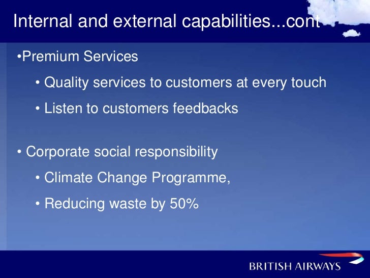 corporate social responsibility of british airways Corporate social responsibility for british airways and air china introduction there has been a lot of fuss about the adoption of corporate social responsibility among many organizations.