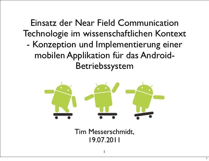 Einsatz der Near Field CommunicationTechnologie im wissenschaftlichen Kontext - Konzeption und Implementierung einer   mob...