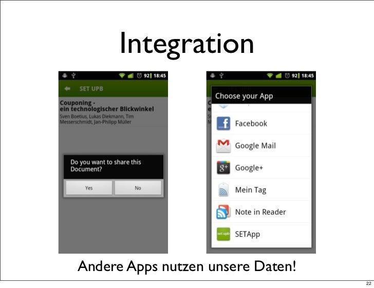 IntegrationAndere Apps nutzen unsere Daten!                                   22