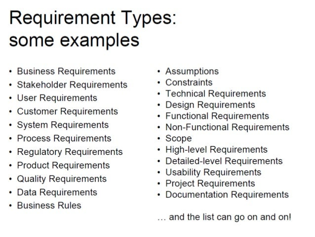 Business Requirements Functional And Non Functional