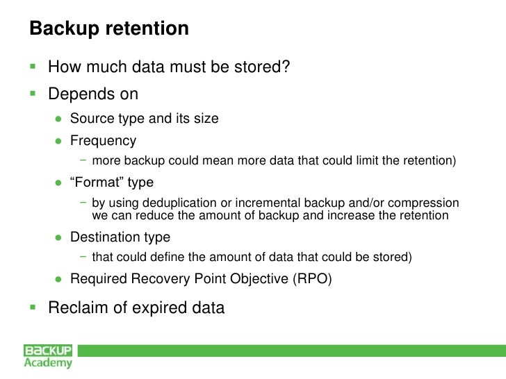 backup retention policy template email retention policy examples basic principles of backup policies by andrea mauro