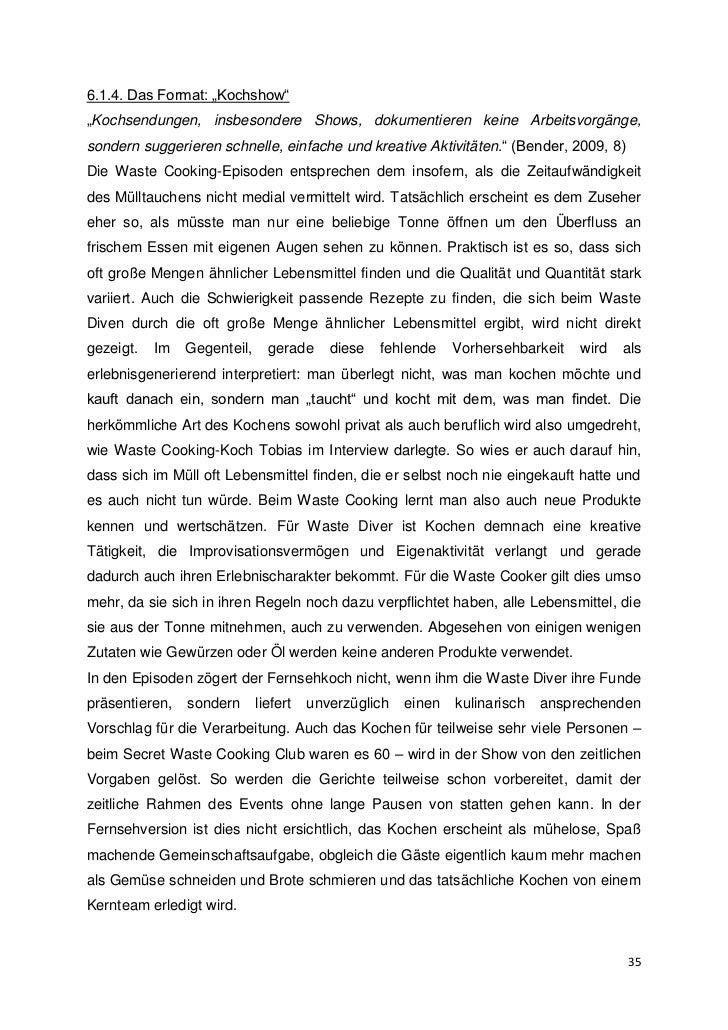 Wastecooking Bachelorarbeit Von Elisabeth Buchner