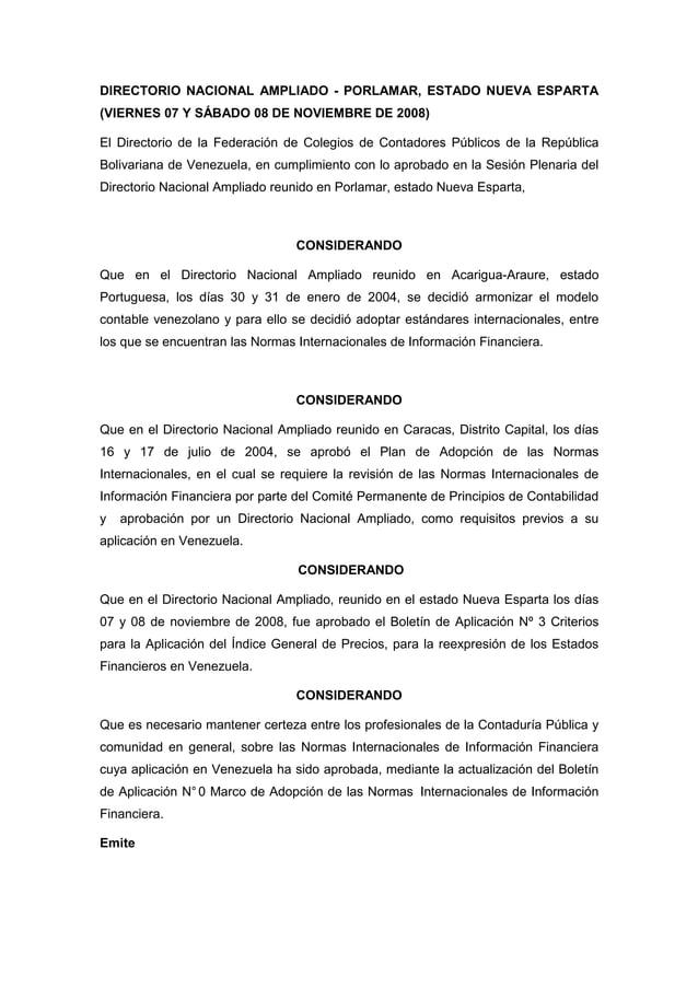 DIRECTORIO NACIONAL AMPLIADO - PORLAMAR, ESTADO NUEVA ESPARTA (VIERNES 07 Y SÁBADO 08 DE NOVIEMBRE DE 2008) El Directorio ...