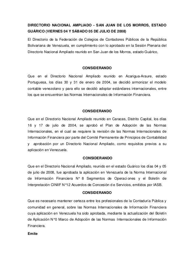 DIRECTORIO NACIONAL AMPLIADO - SAN JUAN DE LOS MORROS, ESTADO GUÁRICO (VIERNES 04 Y SÁBADO 05 DE JULIO DE 2008) El Directo...