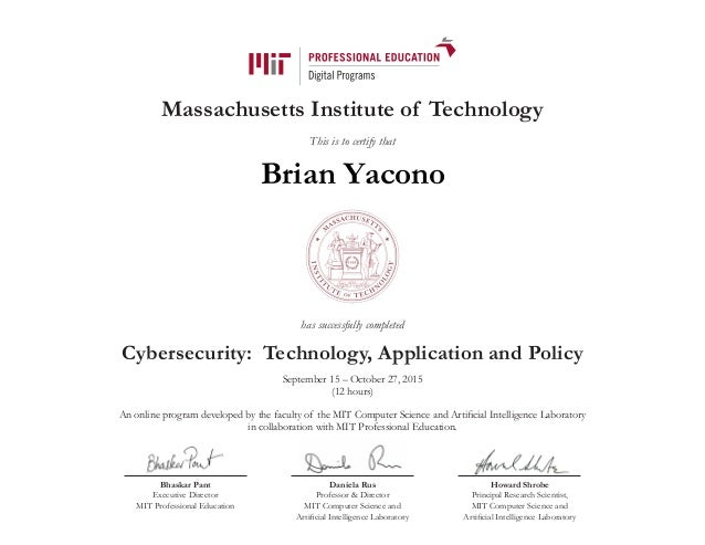 mit cybersecurity certificate