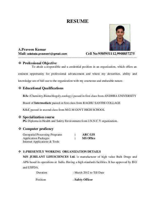 RESUME A.Praveen Kumar Mail: adabala.praveen1@gmail.com Cell No:9505951112,9908857275 ------------------------------------...