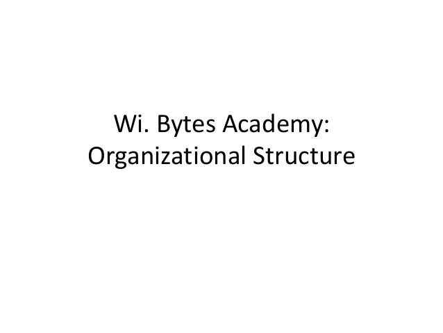 Wi. Bytes Academy: Organizational Structure