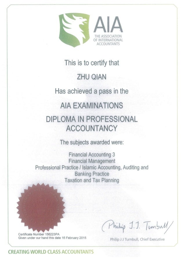 AIA Certification