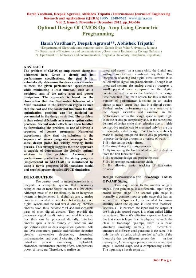 Harsh Vardhani, Deepak Agrawal, Abhishek Tripathi / International Journal of Engineering           Research and Applicatio...