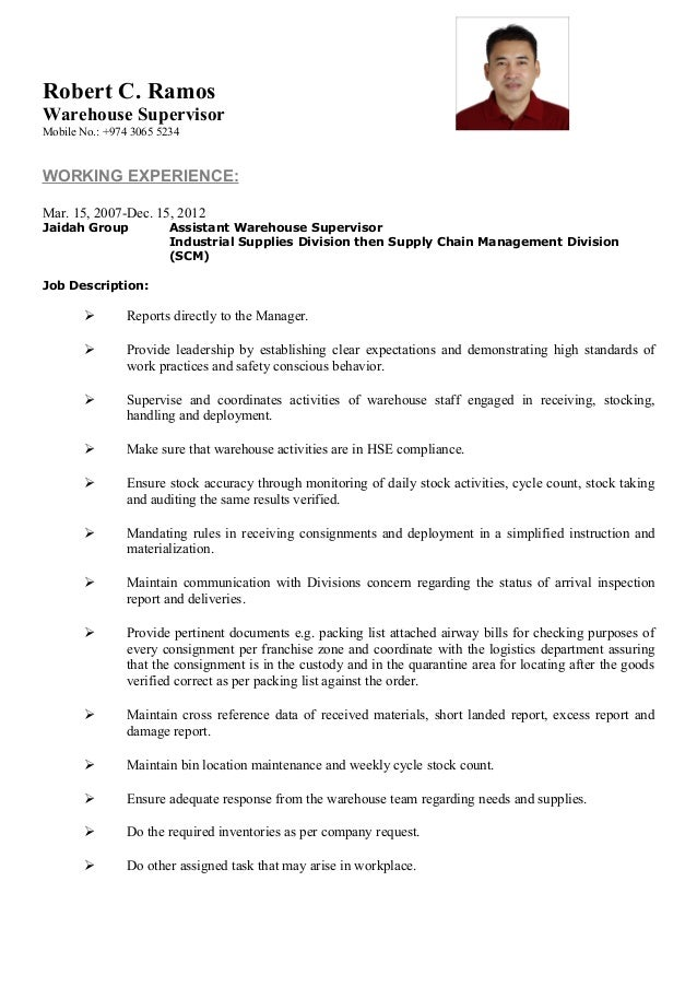 My cv robert c ramos - Corporate compliance officer job description ...