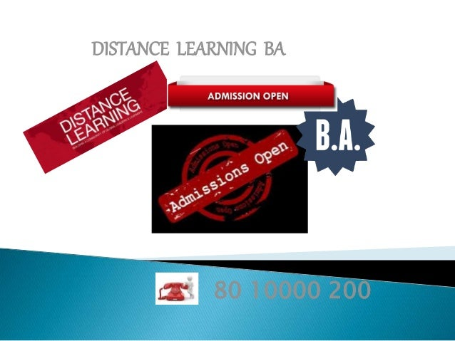 DISTANCE LEARNING BA 80 10000 200