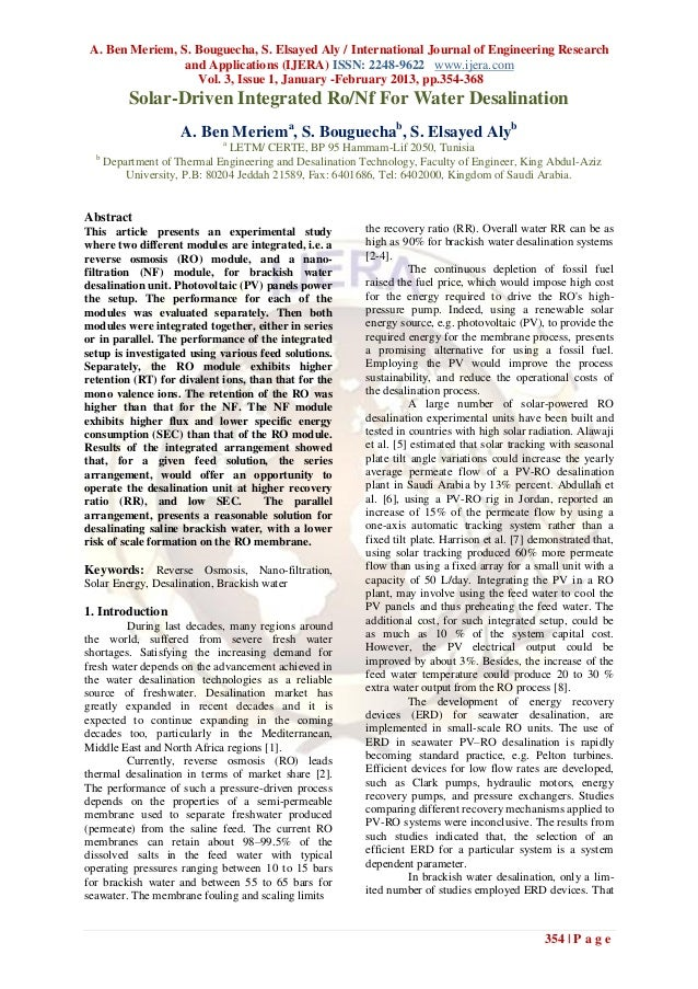 A. Ben Meriem, S. Bouguecha, S. Elsayed Aly / International Journal of Engineering Research                 and Applicatio...