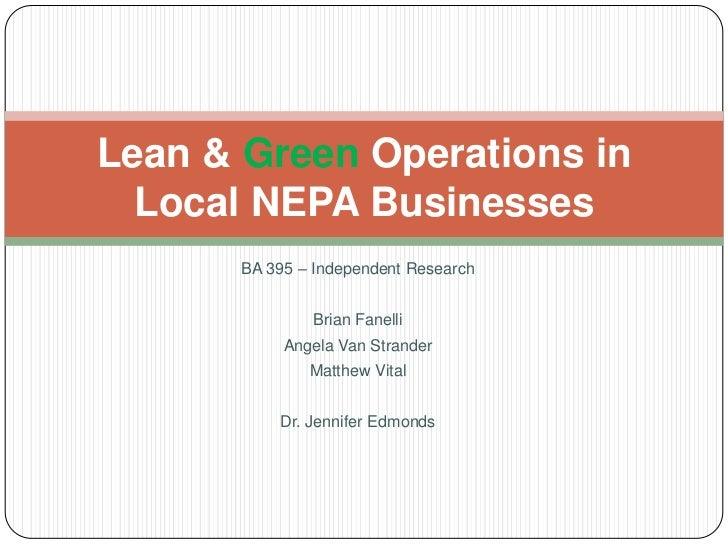 LEAN & GREEN Restaurants (S11)