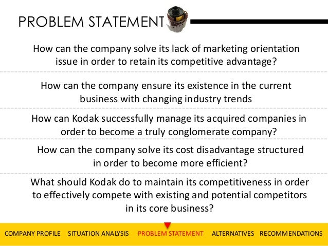 Marketing Plan Problem Statement Ruediger Will