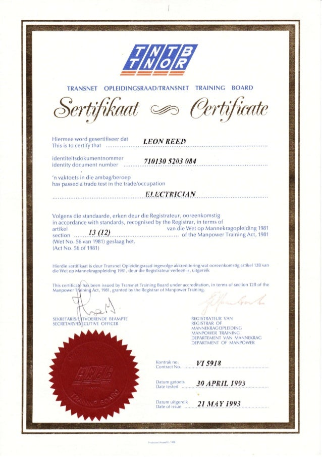 Electrician Trade Test Qualification